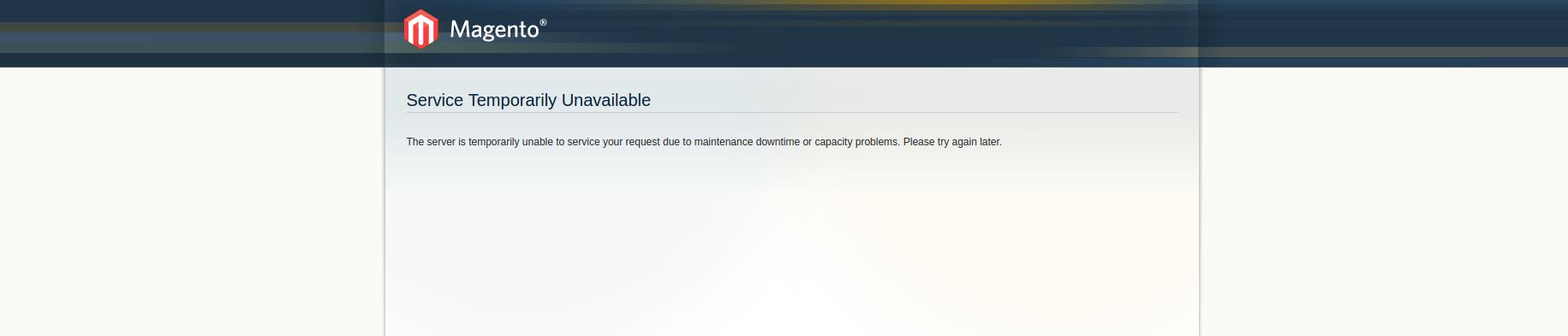 Magento Error 503 Service Unavailable