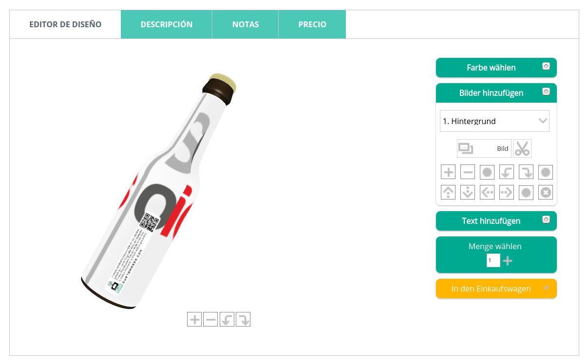 cerveza personalizada web2print Gateway 3D