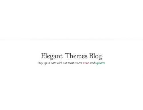 Hosting TOP para WordPress – Elegant Themes