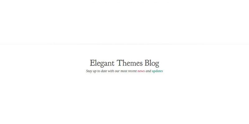 hosting Elegant Themes