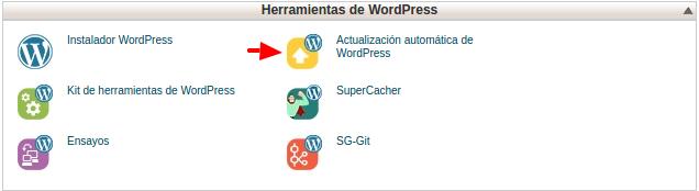 Actualización automática de WordPress - cPanel