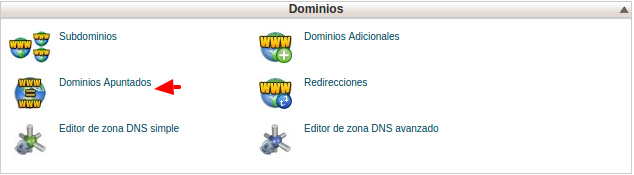 Dominos Apuntados - Hosting cPanel
