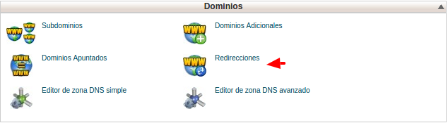 Redirecciones - Hosting cPanel