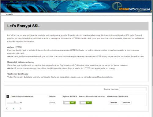 Let's Encrypt SSL – nueva gestión en cPanel X