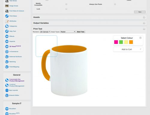Colores del producto en Custom Gateway