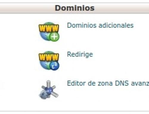 Cambiar dominio principal Hosting StartUp cPanel