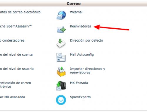 Hosting cPanel: reenvíos direcciones eMail