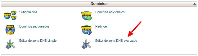 Editar DNS hosting cPanel - Servicios Online