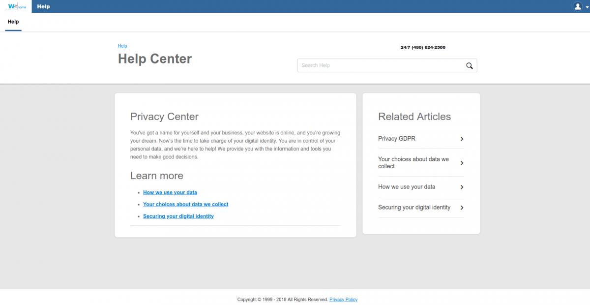 Nueva política de privacidad WSname - Servicios Online