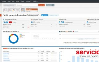 SEMrush Espanol dashboard analisis SEO
