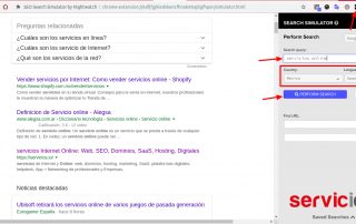 Búsqueda SEO Google Nightwatch