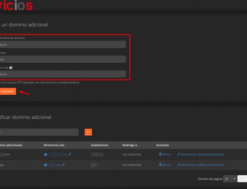 Añadir dominio adicional cPanel