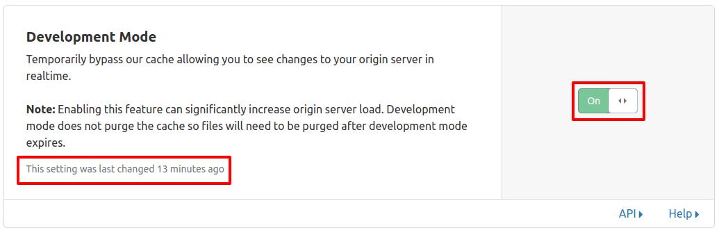 Modo desarrollo CloudFlare servicios.IO