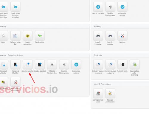 Hosting cPanel StartUp: SpamExperts añadir a Whitelist