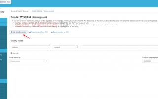 Hosting cPanel SpamExperts add Sender whitelist servicios Internet Online