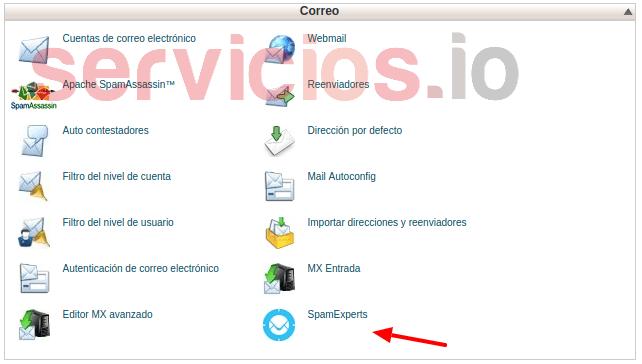 Hosting cPanel SpamExperts servicios Internet Online